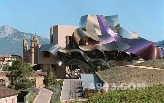 西班牙de riscal葡萄酒酿造厂—frank gehry设计作品图片