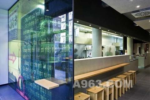 小餐馆吧台内部结构图-不来梅的杰基苏餐厅设计 城市街头厨房