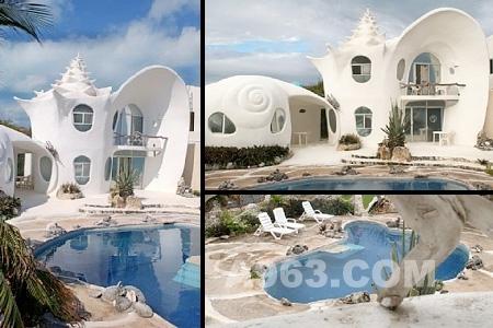 墨西哥坎昆以梦幻般的贝壳小屋