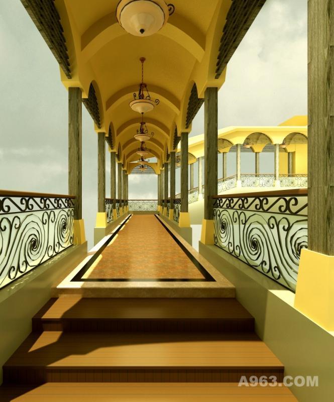 成都新良大酒店屋頂大會議室--外走廊效果圖方案