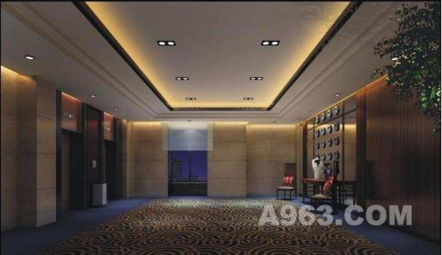 电梯厅 电梯厅运用稳重的仿石材 不但价格便宜而且效果一流,简洁的木线条 中国特色的地花 呈现出一个稳重的办公空间