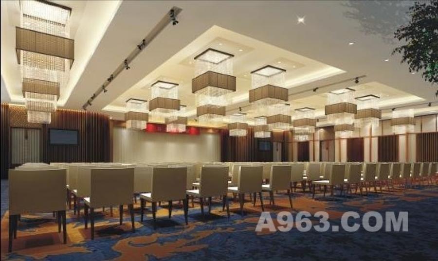 多功能厅 多功能厅 运用中国古典的地毯 华美的纱灯  木线条的稳重 华丽的灯饰设计,在会议时间不多的时候,本空间可以改为大型宴会厅
