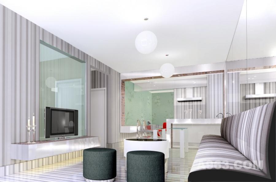 千缘样板房 宇联名都 依循该公寓的户型特点,欲以相吻合的线性元素铺陈整个空间,呈现出与众不同的个性与深深的趣味