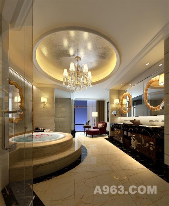 总统套房洗手间