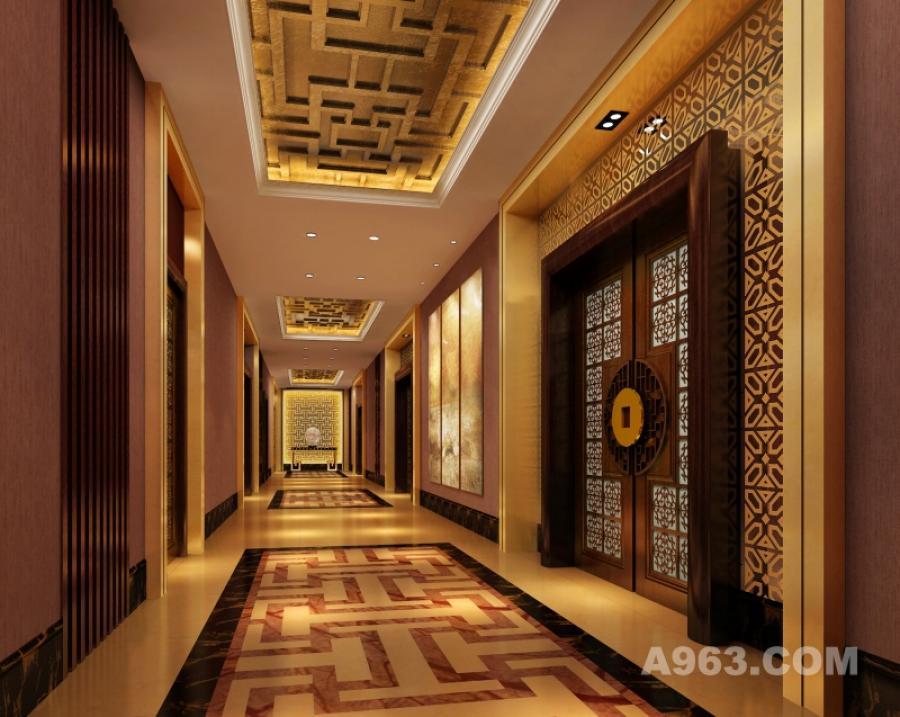 兴城富都中餐厅-走廊