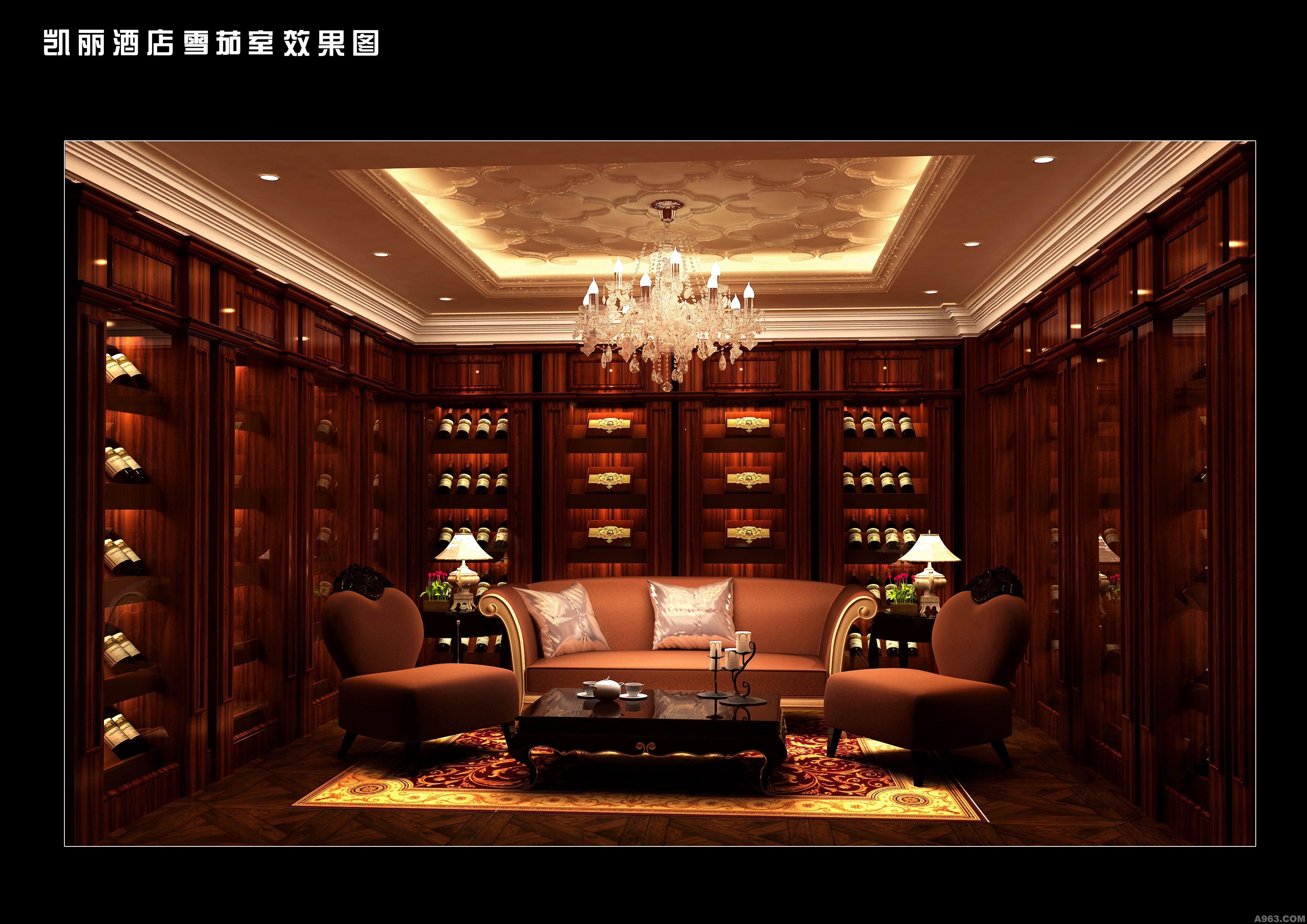 葫芦岛凯丽酒店会所-雪茄红酒区