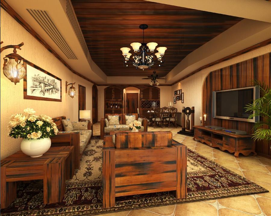 美式风格,船木家具