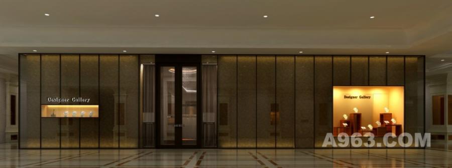 深圳珠宝展厅卖场空间形象设计