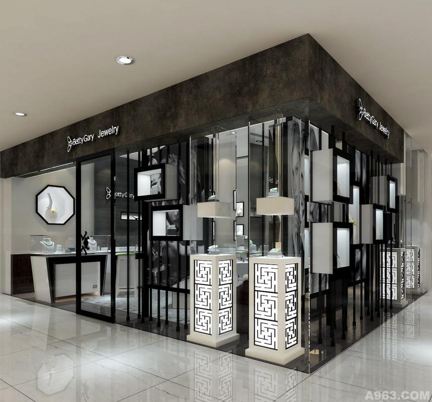 玉石翡翠专卖店卖场展示空间形象设计