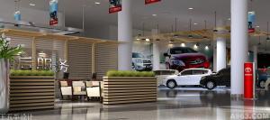 天津北美丰田4s展厅设计