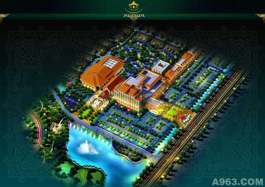 天沐国际温泉度假酒店设计-整体规划意向图