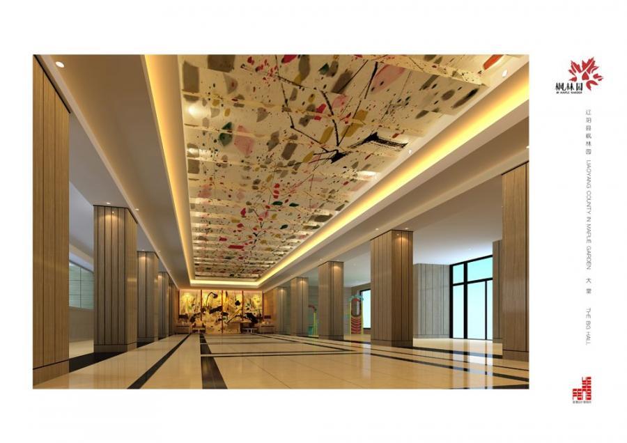 辽宁枫林园酒店设计-一层大厅