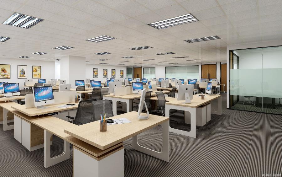 开放办公区左角度