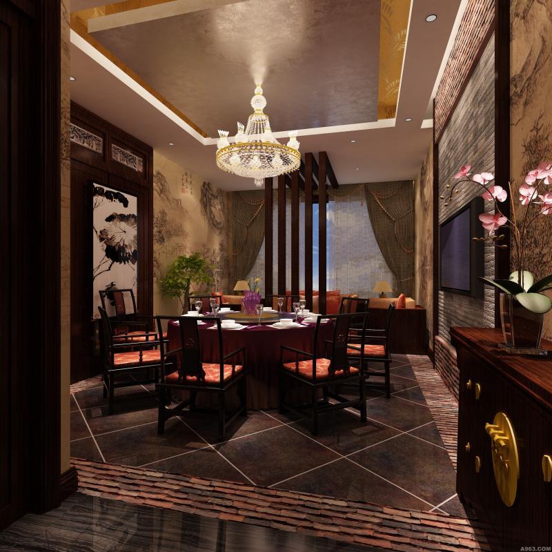 【富鸿装饰】龙凤餐厅是设计案例欣赏