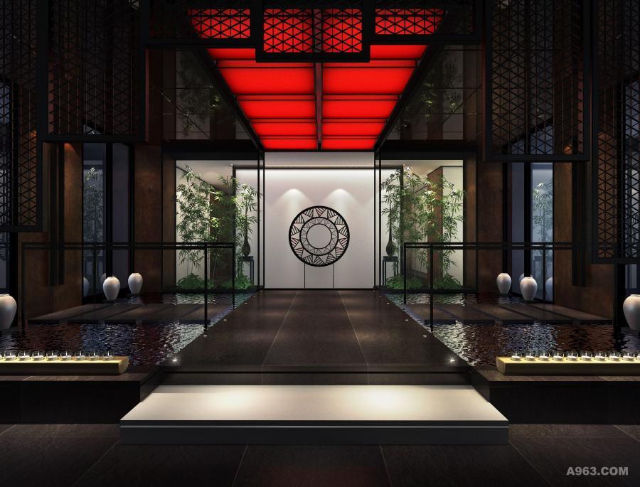 本案的设计构想源于中华国粹——京剧。在浓墨重彩的传统艺术中提炼出清新淡雅的人文气息,将古典艺术赋予现代感的形式语言符号,另整体空间在清雅中不失大气磅礴之势。