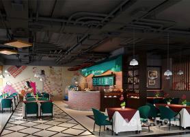 广州中大轻纺城咖啡厅--餐饮空间设计