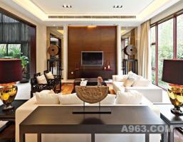高端别墅装修设计与施工,成功案例:万科现代中式别墅