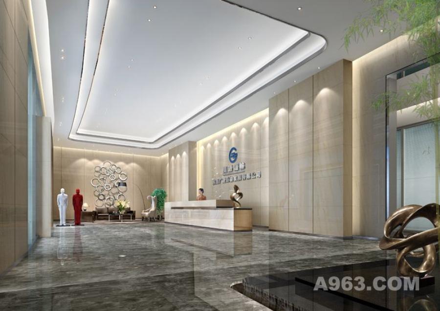 吴开城设计作品——办公室空间——大堂