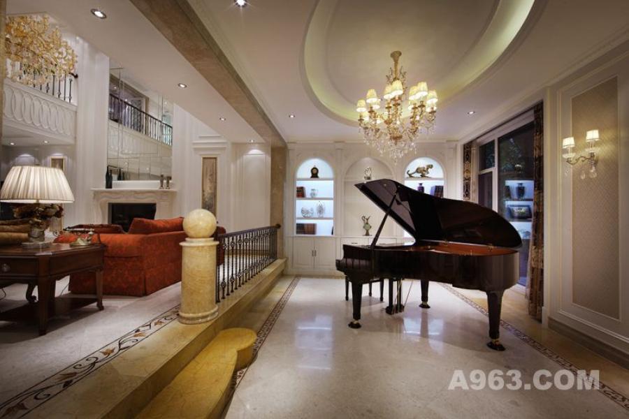 吴开诚设计作品——别墅空间——钢琴吧