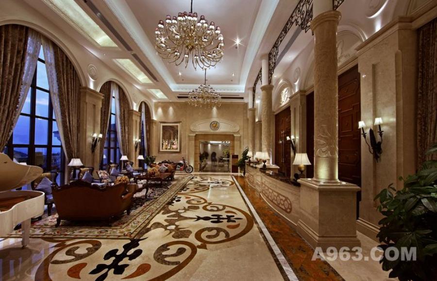 吴开城设计作品——会所空间——一层大堂