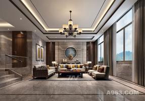江西创嘉90号别墅样板房--新中式风格