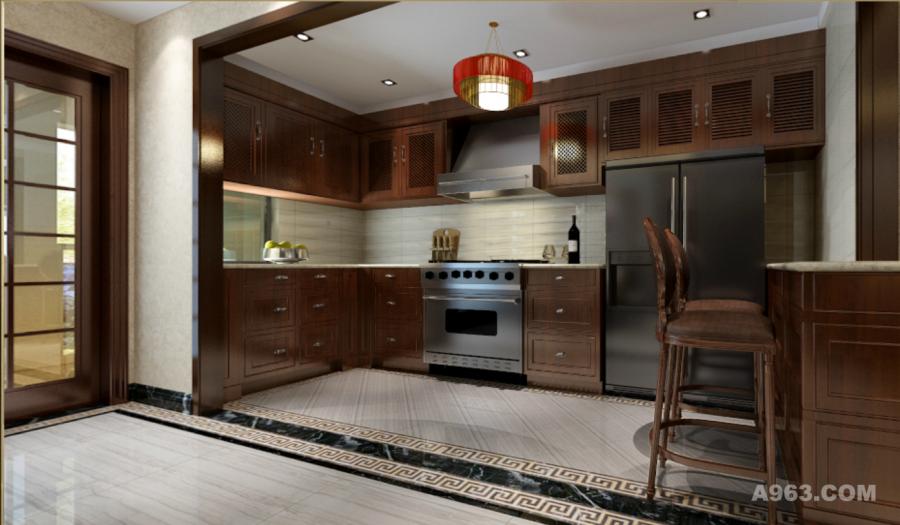 开方式的厨房,让整个空间更大气,明朗,岛台处合理的得用空间,