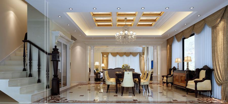 客餐厅空间:风格相对简洁,以实木材料制作的餐桌及椅凳朴实而自然,细节处理十分考究,如流畅的桌边线条,桌面及椅子的纹理,都凸显着家居生活的品质感。餐桌旁别具一格的陈列柜,实用美观。