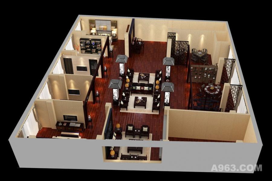 家具展厅设计案例效果图图片