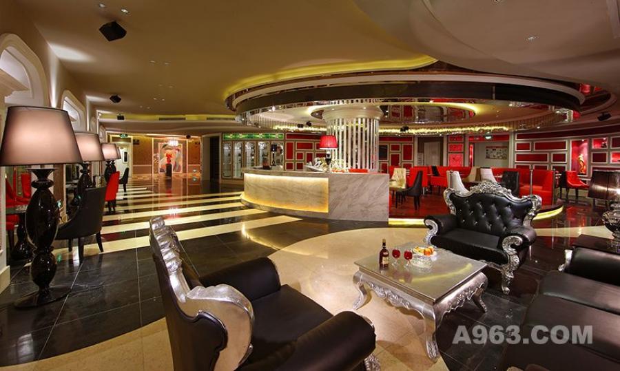 图三:深圳凯高点KTV设计 大厅全景