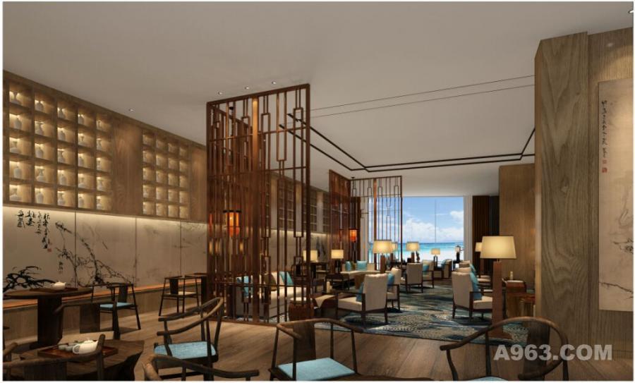 江山半岛海上世界大酒店茶室