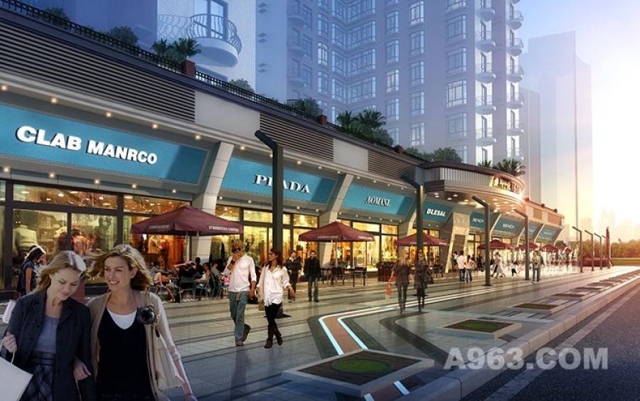 2深圳誉德皇后街区商业街设计