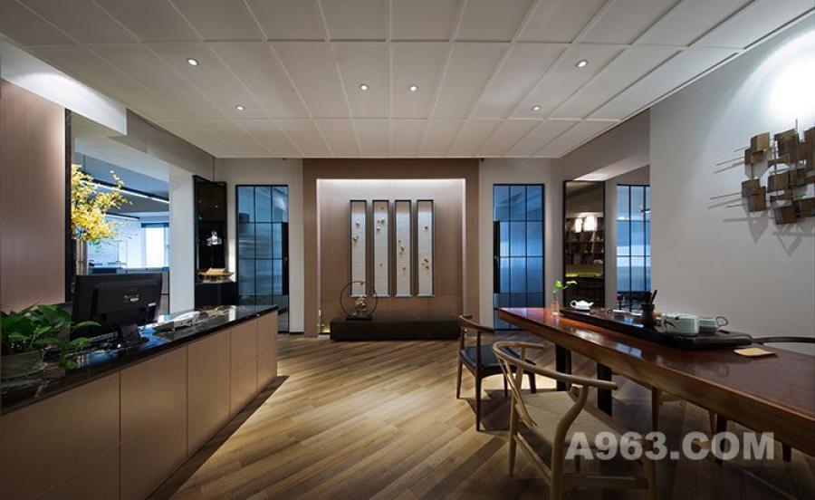 图一:朗昇建筑空间办公室设计-前厅1