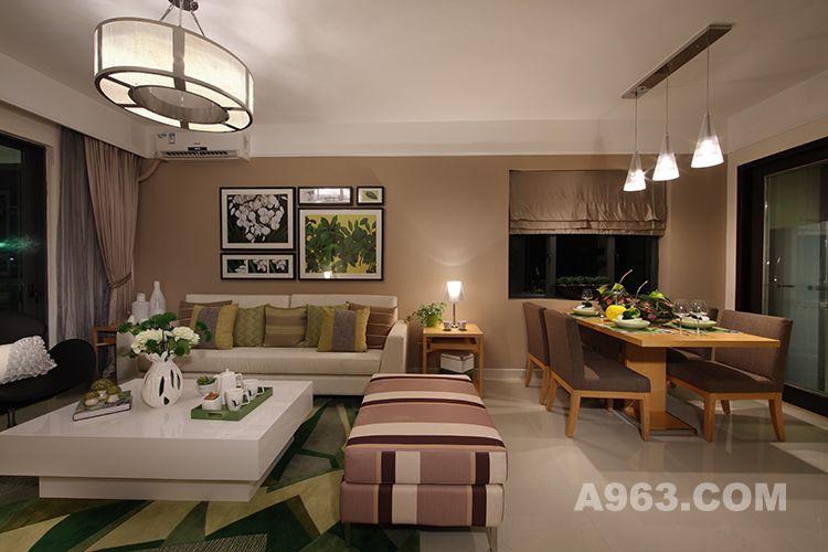 图二:中山海伦春天样板房设计-客餐厅