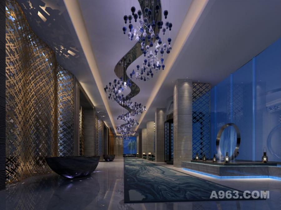 唐山勒泰城项目洗浴中心内装设计-南粤设计