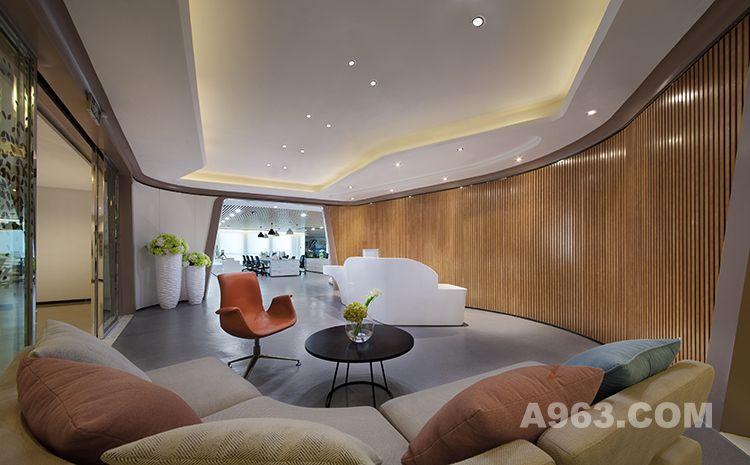 图一:昆明海伦先生办公空间样板房设计 前厅设计1