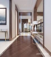 【上海别墅装修设计】蓝色剑桥320㎡现代轻奢主义风格设计装修案例