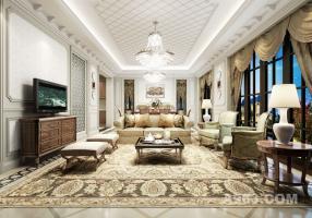 【上海别墅装修设计】绿城玫瑰园420㎡法式风格设计装修案例