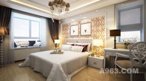 哈尔滨实创装饰诠释观江国际110平欧式新古典婚房