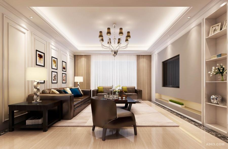 海亮九玺160平现代风格 客厅