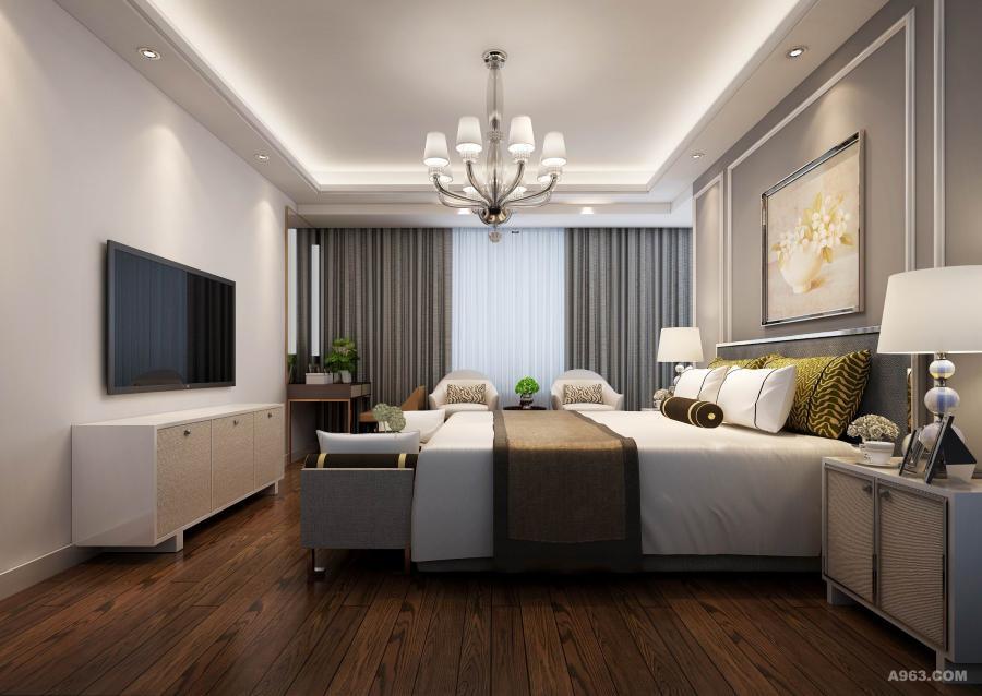 海亮九玺160平现代风格 卧室