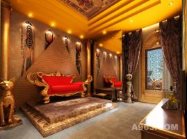 粒米空间设计主题酒店设计古埃及风格室内设计