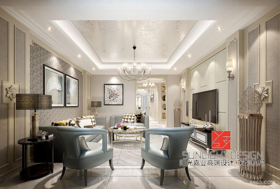 【客厅】现代家庭的简约不只是说装修,还反映在家居配饰上的简约,以不占面积、多功能等为主,沙发背景墙以素雅的壁纸和挂画来点缀。