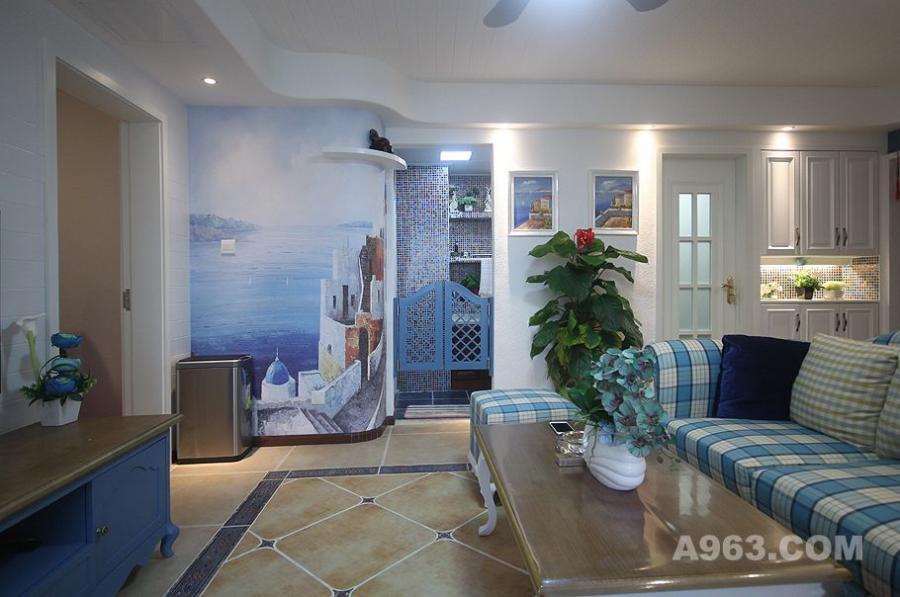 地中海客厅实景照片