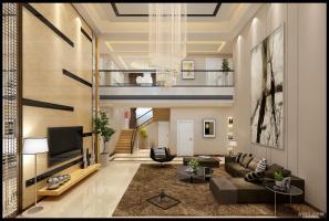 现代简约风格复式别墅-效果图表现
