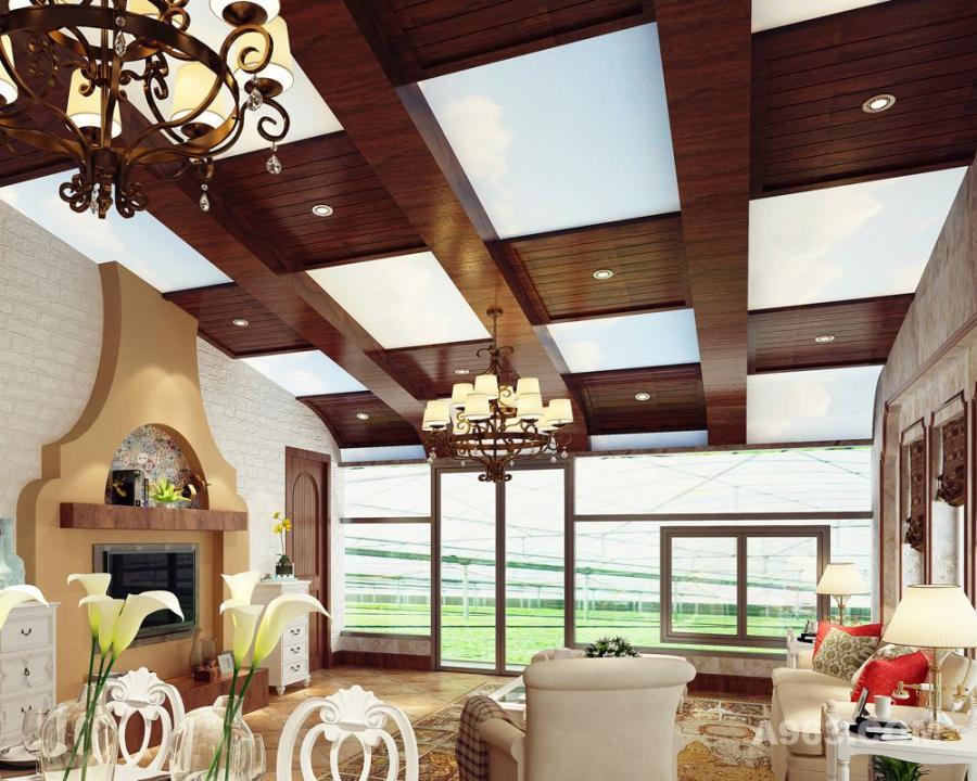 整体居室主打色以白色为主,立显洁净明亮 天花顶部的窗户设计和墙面的多个窗户让人开阔眼界 大面积提高居室的采光率 整体营造宽敞明亮的舒适氛围