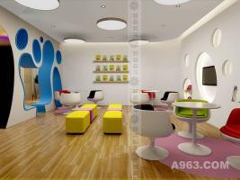 云南幼儿园学校装修设计 昆明幼儿园早教中心装修设计 幼儿园装修设计公司:蓝柚设计