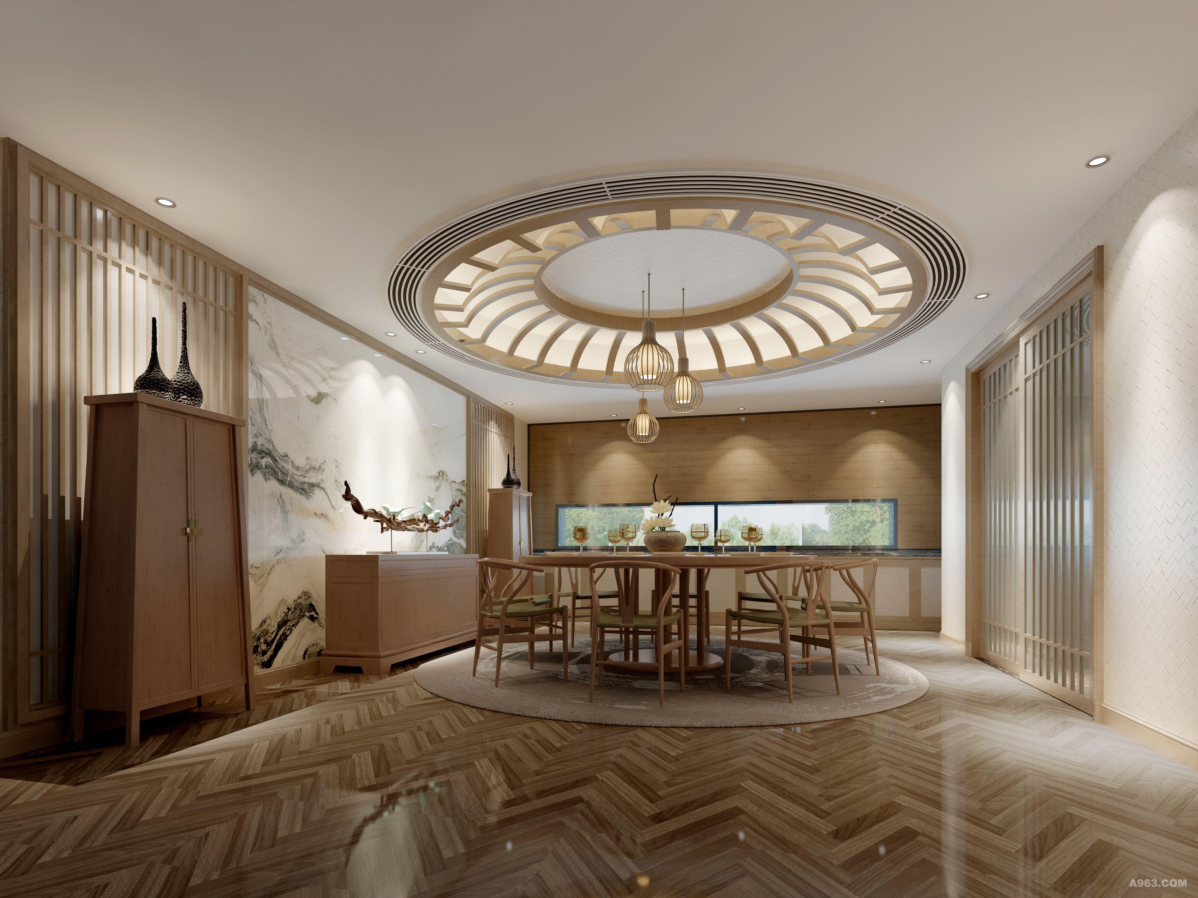 都说房子的格调彰显主人的品味,这个空间目之所及便是素朴的木色,简洁的陈设,写意的墙体山水画,清雅幽静,足见屋子主人淡泊宁静的心境