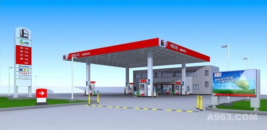 加油站 加油 汽车加油站 中国石化 排队加油 燃料 石油