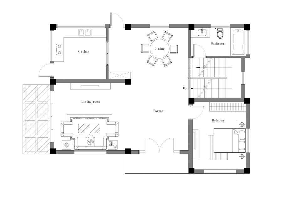 一层建筑平面图