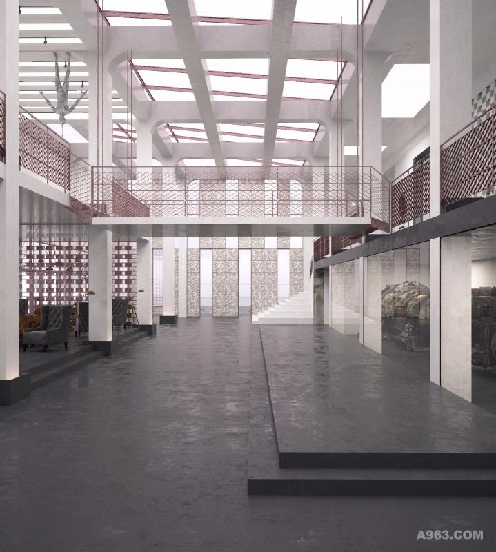 紫坭美术展厅交流大厅